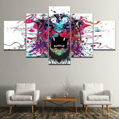 Watercolor Tiger Canvas Wall Art Decor of Creative and Modern Art