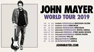 2 John Mayer tickets (Excellent Seated Location) Dublin 16/10/19