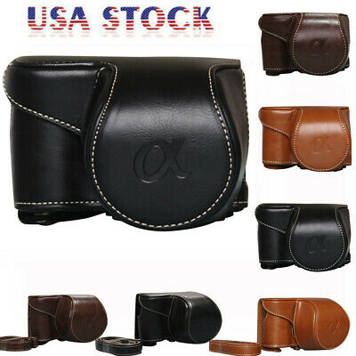 Vintage PU Leather Camera Bag Case Cover Pouch For Sony A6000 A6300 NEX6 Packet