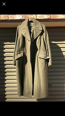 Used AUSTRALIAN ARMY GREAT Grate Trench COAT Size 9 1967 Korea Vietnam Era XL