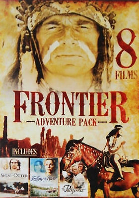 Frontier Adventure Pack - 8 Films (DVD, 2014, 2-Disc Set) - Brand New