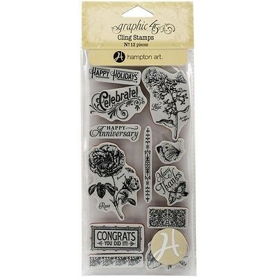 G45 - Time to Flourish  - Cling Stamp #2  (CLEARANCE ITEM)