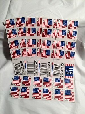 5 Booklets Of 20 Us Flags First-Class Forever Stamps
