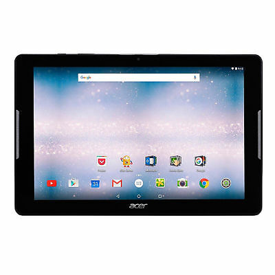 """Acer Iconia One 10"""" WiFi 16GB Camera Android Quad Core Tablet Black"""