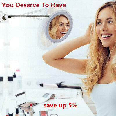 My Flexible Illuminated Makeup Mirror 10x Mag Flexi With Bendable Neck Cosmetic