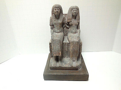 Egyptian Couple Masterpiece from Louvre New Kingdom Museum Replica Statue