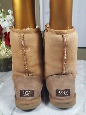 6afcfefbbc9 WOMEN'S UGG 5825 Short Classic Brown Suede Sheepskin Lined Boots Size 38 Us  7 M