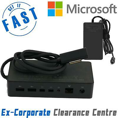 Genuine Microsoft Surface Pro 4 5 6 -1661 Docking Station + Charger -Excell Cond