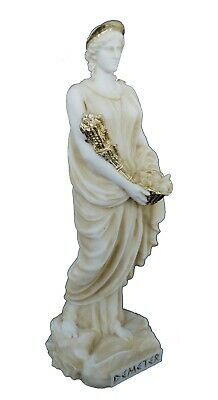 Demeter sculpture ancient Greek Goddess of the agriculture active statue aged