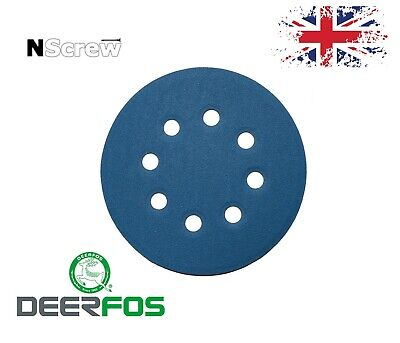 Sanding Discs 5'' 8 holes Deerfos Wet and Dry 125mm Grits 40-3000 orbital pads