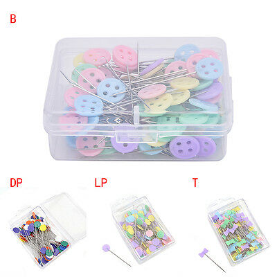 100X Patchwork Pins Flower Button Head Pins Quilting Tool Sewing Accessories gN