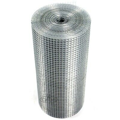 "Welded Wire Mesh 1/2"" x 1/2"" x 48"" x 15m Aviary Hutches Fencing Pet Run Coop"