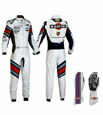 Kart race suit Go karting suits Martini edition made by FR1 with race Gloves