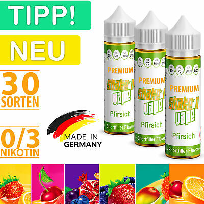 Shake and Vape Premium E Liquid 50ml (in 60ml Flasche) Shortfill 0 / 3mg Nikotin