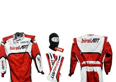 BIREL ART  suit Go karting suits with race Gloves