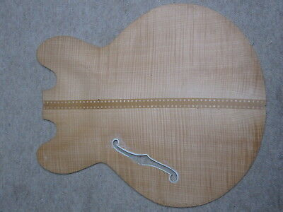 Nicely flamed old front of a hofner archtop guitar,  German Made approx 1960 NOS