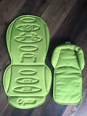 Oyster Stroller Colour Pack Lime (Seat Liner, Head Hugger and Carry Bag)