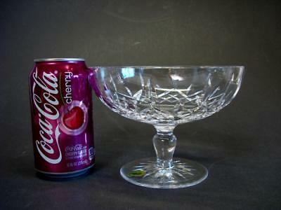 Waterford Crystal Lismore Footed Round Compote with Label 6 1/4'' diameter