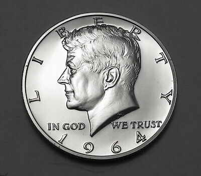 1964 Kennedy Half Dollar Gem Proof Transitional Reverse Variety Straight G