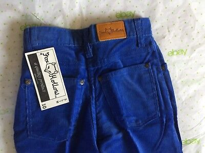 "K-MART ""FOX HOLLOW"" girl's 10 Slim blue corduroy jeans pants NOS VTG USA NWT NEW"