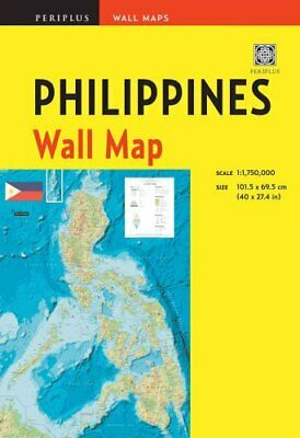 Philippines Wall Map Second Edition Scale: 1:1,750,000; Unfolds... 9780794607869