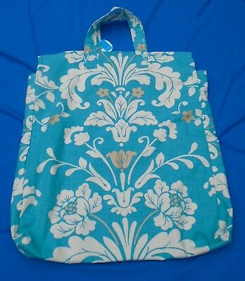"""Shoulder Pillow Bag For 24"""" Pillow 2 Zip Side Gussets Turqu. Quality Materials"""