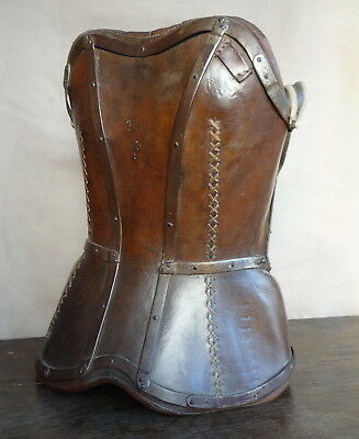 RARE Antique Scoliosis bodice corset leather metal child Victorian French brace