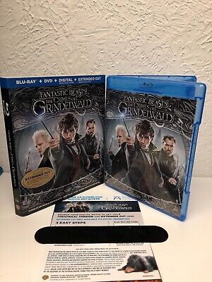 FANTASTIC BEASTS THE CRIMES OF GRINDELWALD Blu Ray + Digital HD NO DVD INCLUDED!