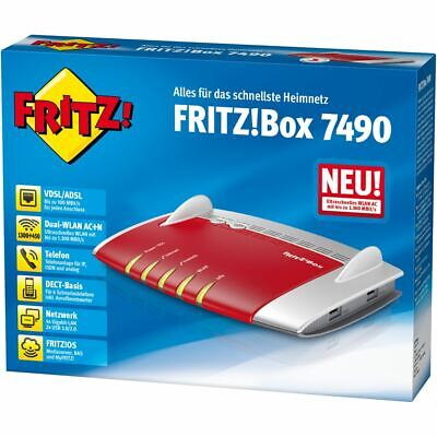AVM FritzBox 7490 1300 Mbps WLAN Router / Fritz!Box VDSL/ADSL, deutsche Version