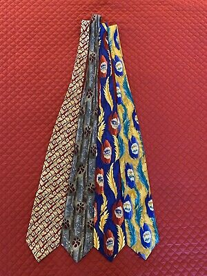"""Jerry Garcia ties Lot of 4 """"Collection 9/10"""""""