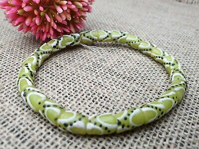 Krobo snake Ghana recycled glass trade beads Pulver Glasperlen Afrika grün 9 mm