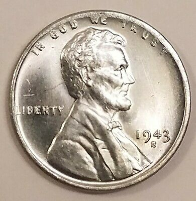 1943-S, Lincoln Wheat Cent Penny Gorgeos B U CH, GEM Nice Luster From OBW Roll