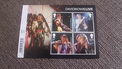 2017 David Bowie Live  Mini Sheet  - With Barcode Margin  - Mnh Mint Gb Stamps