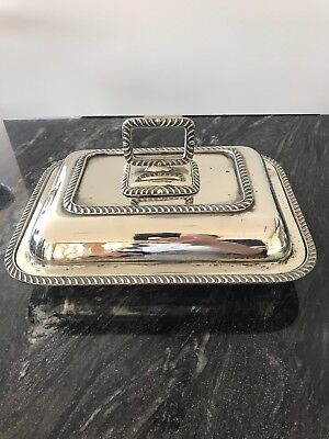 SILVER PLATE SERVING TUREEN 1900's 1.3kg