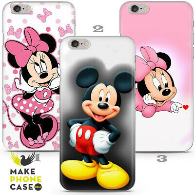 Walt Disney Mickey Mouse Kid Gift Cartoon Case Cover iPhone 5 6 7 8 X Xr Leather