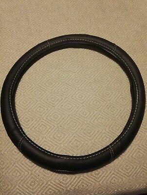 Black Car Steering Wheel Cover PU Leather Universal
