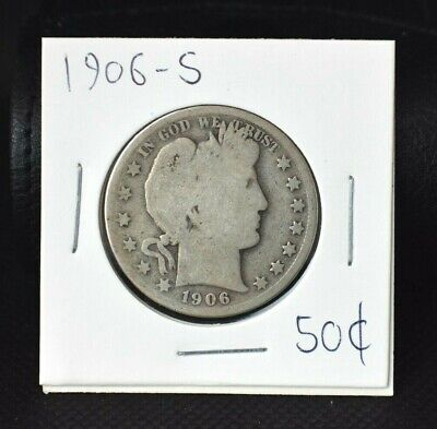 1906-S Barber Half Dollar 50¢~G~Part of a Large Lot~  >>Make Us An Offer<<