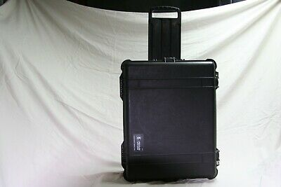 Black, slightly used, Pelican 1610 Case with foam