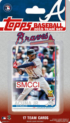 Atlanta Braves 2019 Topps Factory Sealed Team Set Albies Acuna Swanson plus