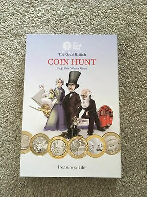 Royal Mint £2 pound coin hunt Complete album inc Commonwealth Full set of 4 VGC