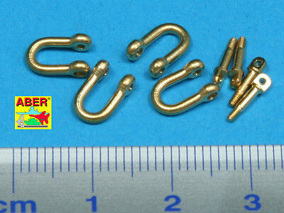 1//35 ABER R16 FOUR LATE MODEL SHACKLE For GERMAN PANTHER for DRAGON TAMIYA etc.