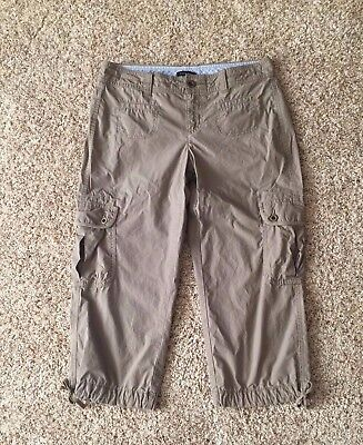 4832952c Women's Size 6 Tommy Hilfiger Cargo Khaki Tan Cropped Capris Pants - 100%  Cotton