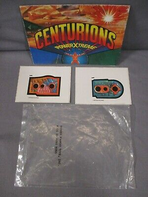 Centurions STICKER LABEL SHEET & CATALOG lot Vintage 1986