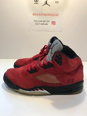 a16ab4f479a590 Men s Nike Air Jordan V 5 5s Retro 2009 Red Raging Bull Suede 136027-601