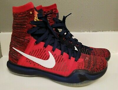 info for d66bf 85302 ... nike kobe 10 x elite high american usa red white blue size 9.5 718763  614