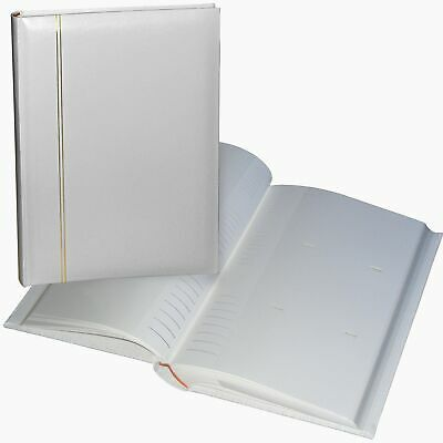 Zanzibar 6x4 slip-in 300 white wedding photo album, acid-free, memo spaces
