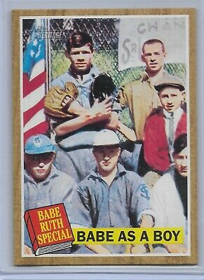 Babe Ruth Special Babe As A Boy 2011 Topps Heritage #135 New York Yankees HOF