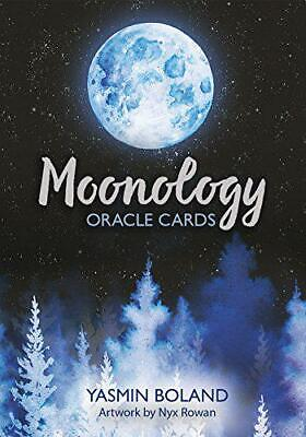 Moonology Oracle Cards: A 44-Card Deck and Guidebook by Boland, Yasmin, NEW Book
