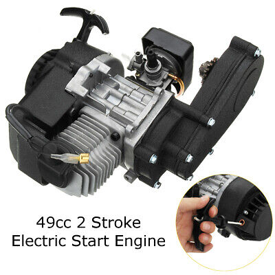 47 49cc Engine 2-Stroke Electric Pull Start W/Transmission Mini Moto Quad Bike