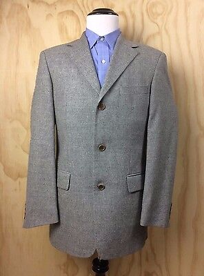8201028e6 Hugo Boss 40R Angelico/Parma Wormland 100% Wool Light Gray Sportscoat Jacket